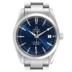 Omega Seamaster Aqua Terra 36 Blue Dial Steel Watch 2504.80.00 Box Card