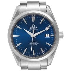 Omega Seamaster Aqua Terra Blue Dial Steel Mens Watch 2503.80.00 Card