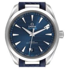 Omega Seamaster Aqua Terra Blue Dial Watch 220.12.41.21.03.001 Box Card