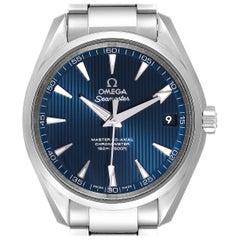 Omega Seamaster Aqua Terra Blue Dial Watch 231.10.39.21.03.002 Box Card