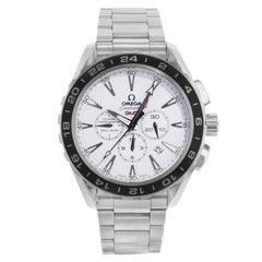 Omega Seamaster Aqua Terra GMT White Dial Steel Watch 231.10.44.52.04.001 Mint