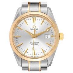 Omega Seamaster Aqua Terra Midsize Steel Yellow Gold Watch 2318.30.00 Box Card