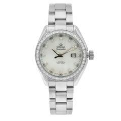 Omega Seamaster Aqua Terra MOP Diamond 1.75cttw Ladies Watch 231.15.34.20.55.001