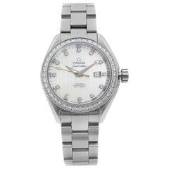 Omega Seamaster Aqua Terra MOP Diamond Dial Ladies Watch 231.15.34.20.55.001