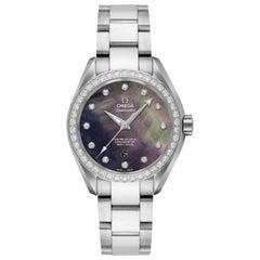 Omega Seamaster Aqua Terra MOP Diamond Dial Ladies Watch 231.15.34.20.57.001