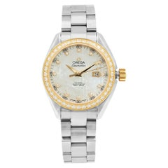 Omega Seamaster Aqua Terra MOP Diamond Steel Ladies Watch 231.25.34.20.55.003