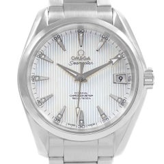 Omega Seamaster Aqua Terra MOP Diamond Watch 231.10.39.21.55.001