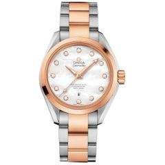 Omega Seamaster Aqua Terra Steel Gold MOP Diamond Dial Watch 231.20.34.20.55.001