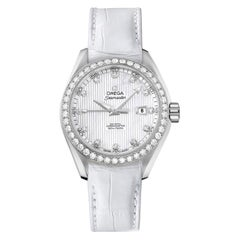 Omega Seamaster Aqua Terra Steel MOP Diamond Dial Watch 231.18.34.20.55.001