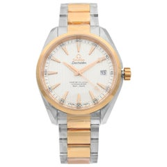Omega Seamaster Aqua Terra Steel Rose Gold Silver Dial Watch 231.20.42.21.02.001