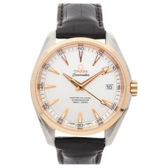 Omega Seamaster Aqua Terra Steel Rose Gold Silver Dial Watch 231.23.42.21.02.001