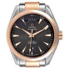 Omega Seamaster Aqua Terra Steel Rose Gold Watch 231.20.42.22.06.001 Box Crad