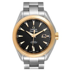 Omega Seamaster Aqua Terra Steel Yellow Gold Watch 231.20.34.20.01.004 Box Card
