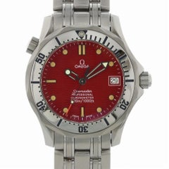 Omega Seamaster Band and Red Dial Certified Pre-Owned