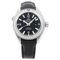 Omega Seamaster Black Dial Steel Diamond Automatic Watch 232.18.38.20.01.001