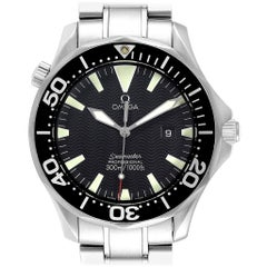 Omega Seamaster Black Dial Steel Men's Watch 2264.50.00 Card
