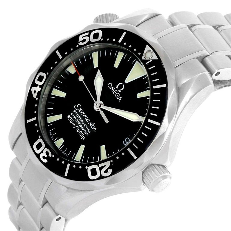 Omega Seamaster Black Wave Dial Midsize 300m Watch 2252 50 00 For