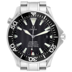 Omega Seamaster Black Wave Dial Steel Men's Watch 2254.50.00