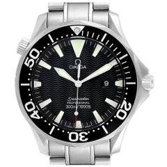 Omega Seamaster Black Wave Dial Steel Men's Watch 2264.50.00