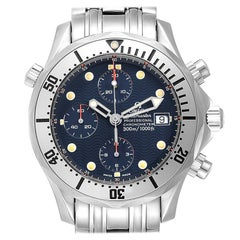 Omega Seamaster Blue Dial Chronograph Steel Men's Watch 2598.80.00