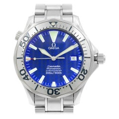 Omega Seamaster Blue Metallic Wave Index Dial Steel Automatic Watch 2255.80.00