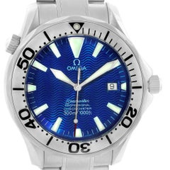 Omega Seamaster Blue Wave Dial Steel Men's Watch 2255.80.00 Card