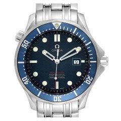 Omega Seamaster Bond 300M Blue Wave Dial Men's Watch 2221.80.00