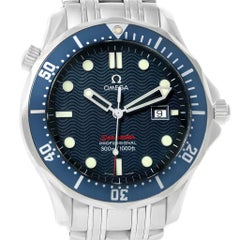Omega Seamaster Bond 300M Blue Wave Dial Men's Watch 2221.80.00