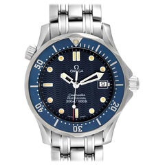 Omega Seamaster Bond 36 Midsize Blue Dial Steel Mens Watch 2561.80.00 Card