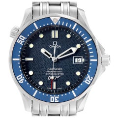Omega Seamaster Bond 40 Years Gun Logo LE Watch 2537.80.00 Box Card