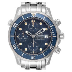 Omega Seamaster Bond Blue Dial Chronograph Steel Men's Watch 2599.80.00