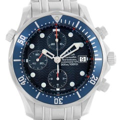 Omega Seamaster Bond Chrono Blue Wave Dial Men's Watch 2599.80.00 Card