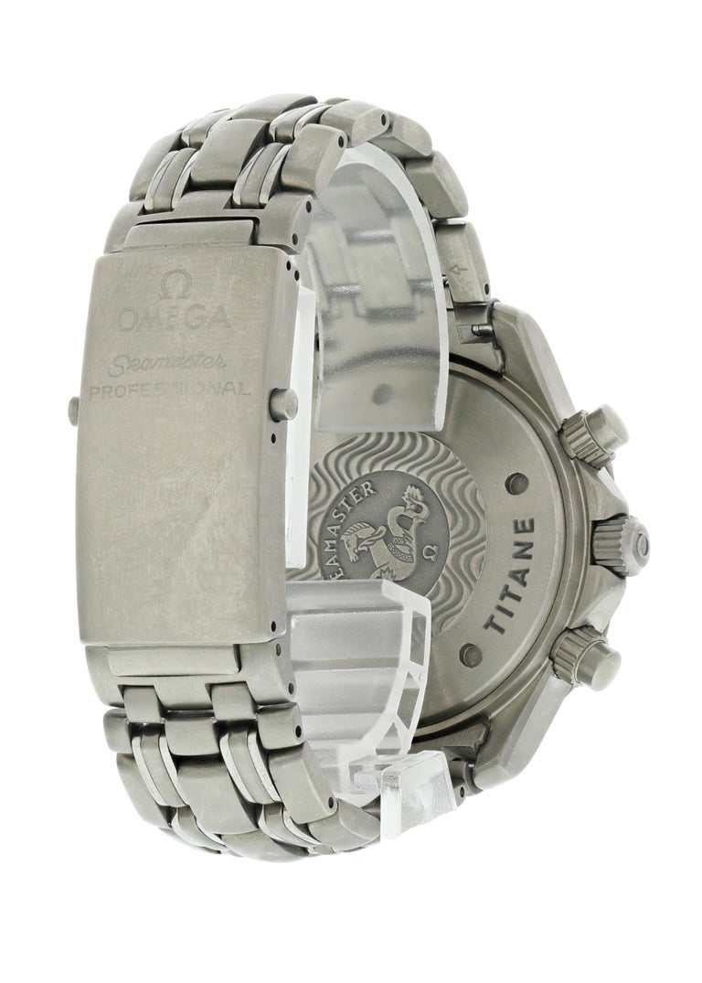 Omega Seamaster Chronograph 2298.80.00 Titanium Men's Watch Box Papers For Sale 1