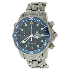 Omega Seamaster Chronograph 2298.80.00 Titanium Men's Watch Box Papers