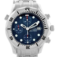 Omega Seamaster Chronograph Blue Dial Men's Watch 2598.80.00