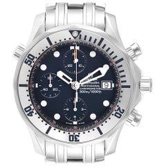Omega Seamaster Chronograph Blue Dial Steel Men's Watch 2598.80.00 Card