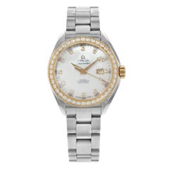 Omega Seamaster Diamond Steel Silver MOP Dial Ladies Watch 231.25.34.20.55.003