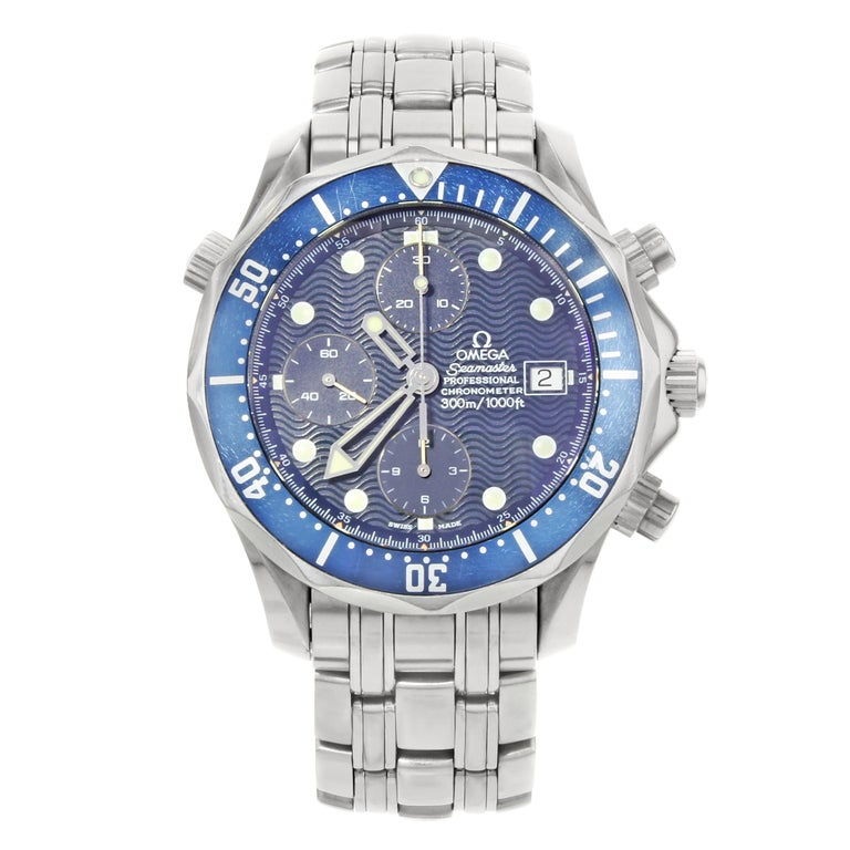a182f21149ff Omega Seamaster Diver 300 Chrono Blue Dial Stainless Steel Mens Watch  2599.80.00 For Sale