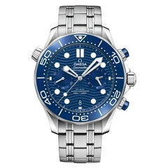 Omega Seamaster Diver 300M Chronograph Blue Dial Watch 210.30.44.51.03.001