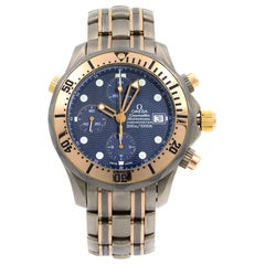 Omega Seamaster Diver 300M Chronograph Blue Dial Automatic Mens Watch 2296.80.00