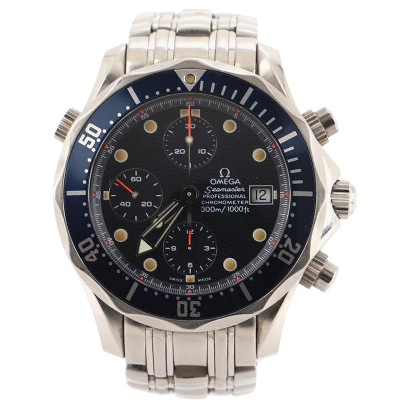 Omega Seamaster Diver 300M Chronometer Chronograph Automatic Watch Stainless