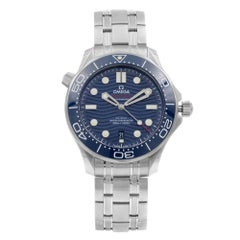 Omega Seamaster Diver 300M Steel Blue Dial Men's Watch 210.30.42.20.03.001
