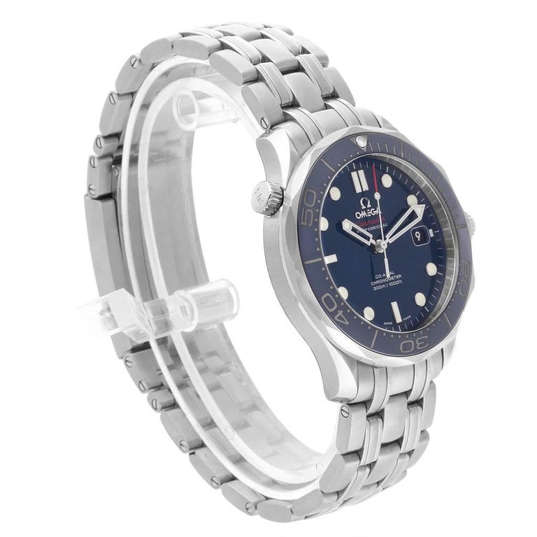 Omega Seamaster Diver Co-Axial Men's Watch 212.30.41.20.03.001 Box Card For Sale 1
