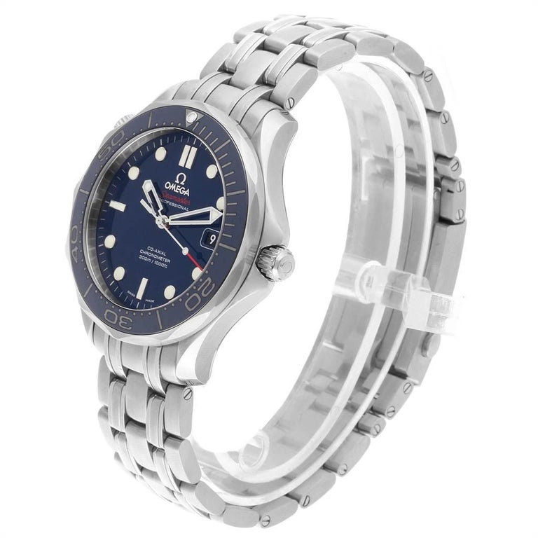 Omega Seamaster Diver Co-Axial Men's Watch 212.30.41.20.03.001 Box Card For Sale 2
