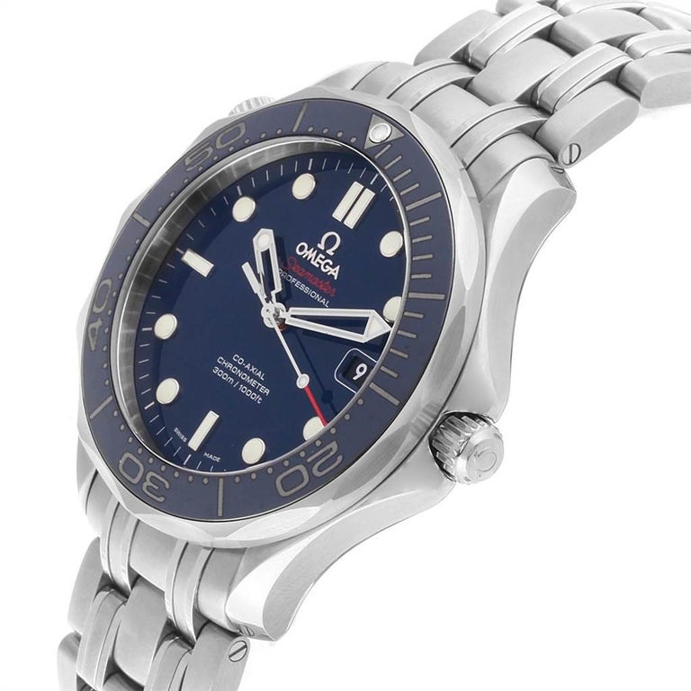 Omega Seamaster Diver Co-Axial Men's Watch 212.30.41.20.03.001 Box Card For Sale 3