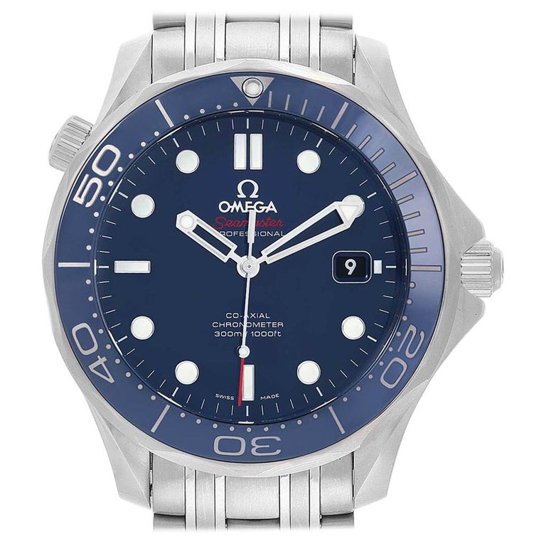 Omega Seamaster Diver Co-Axial Men's Watch 212.30.41.20.03.001 Box Card For Sale