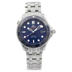 Omega Seamaster Diver Steel Blue Dial Automatic Men's Watch 212.30.41.20.03.001