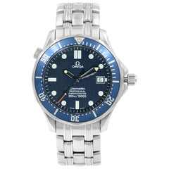 Omega Seamaster Divers 300M Blue Wave Dial Steel Automatic Mens Watch 2531.80.00