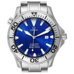 Omega Seamaster Electric Blue Wave Dial Men's Watch 2265.80.00