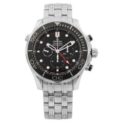Omega Seamaster GMT Chronograph Steel Black Dial Men's Watch 212.30.44.52.01.001